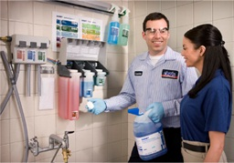 Cintas chemical stations hit a home run with cleaners at