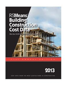 RSMeans releases 2013 editions of construction cost data books and