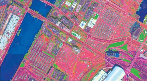 Heat island mapping