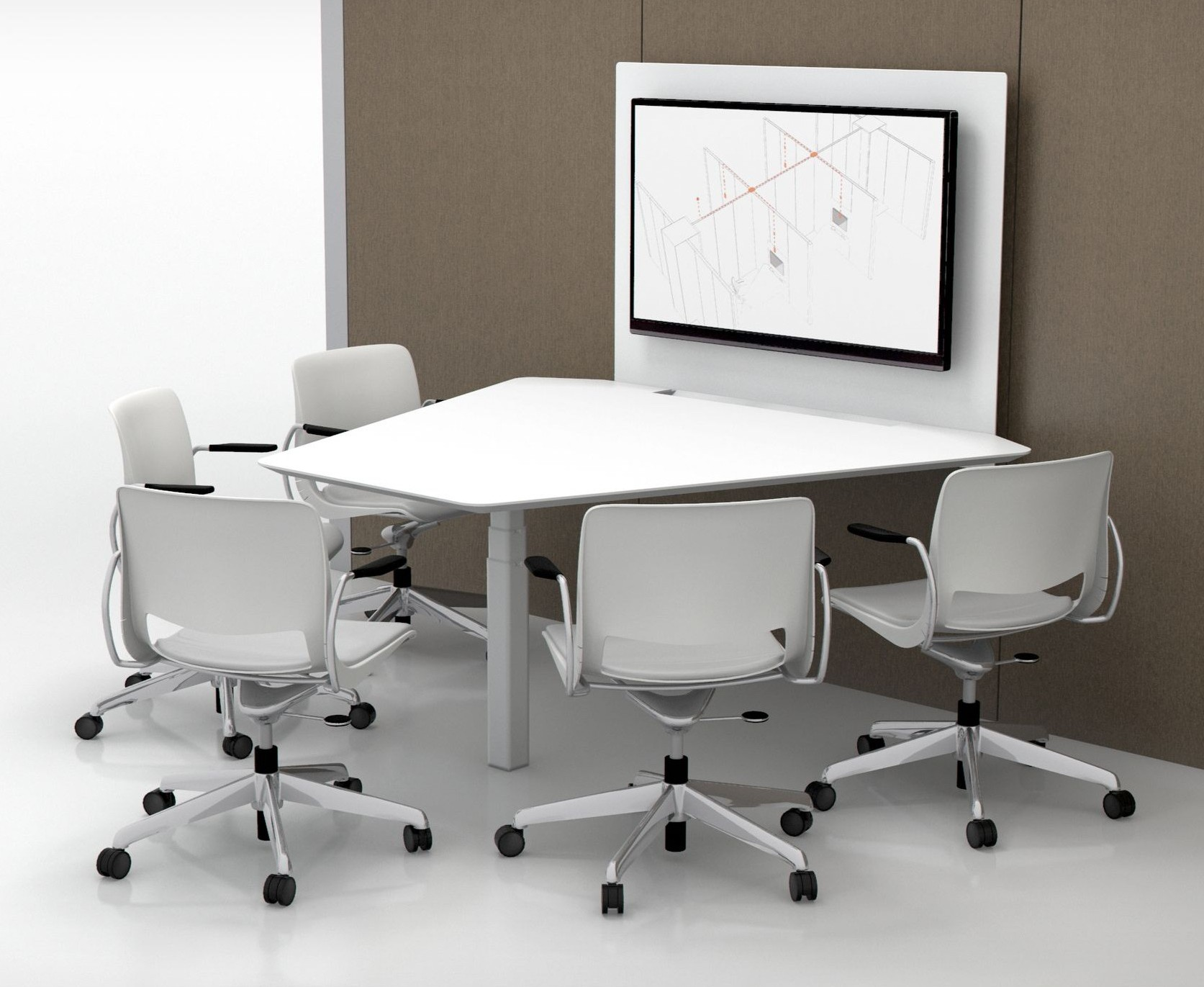 NeoCon 2016 Teknion39s Tek Pier height adjustable worksurface