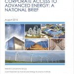 Cover of AEE report on corporate access to renewables
