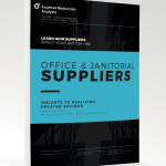 cover of white paper on office and janitorial supplies
