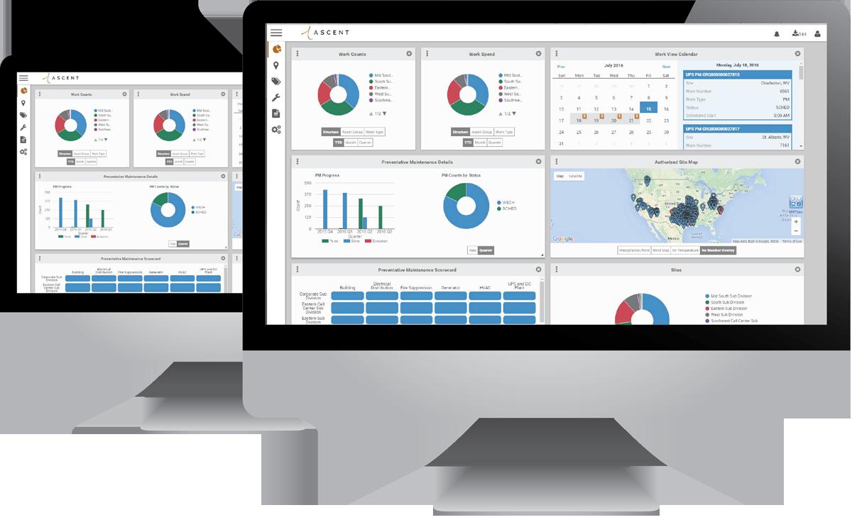 Data center infrastructure management platform screenshot