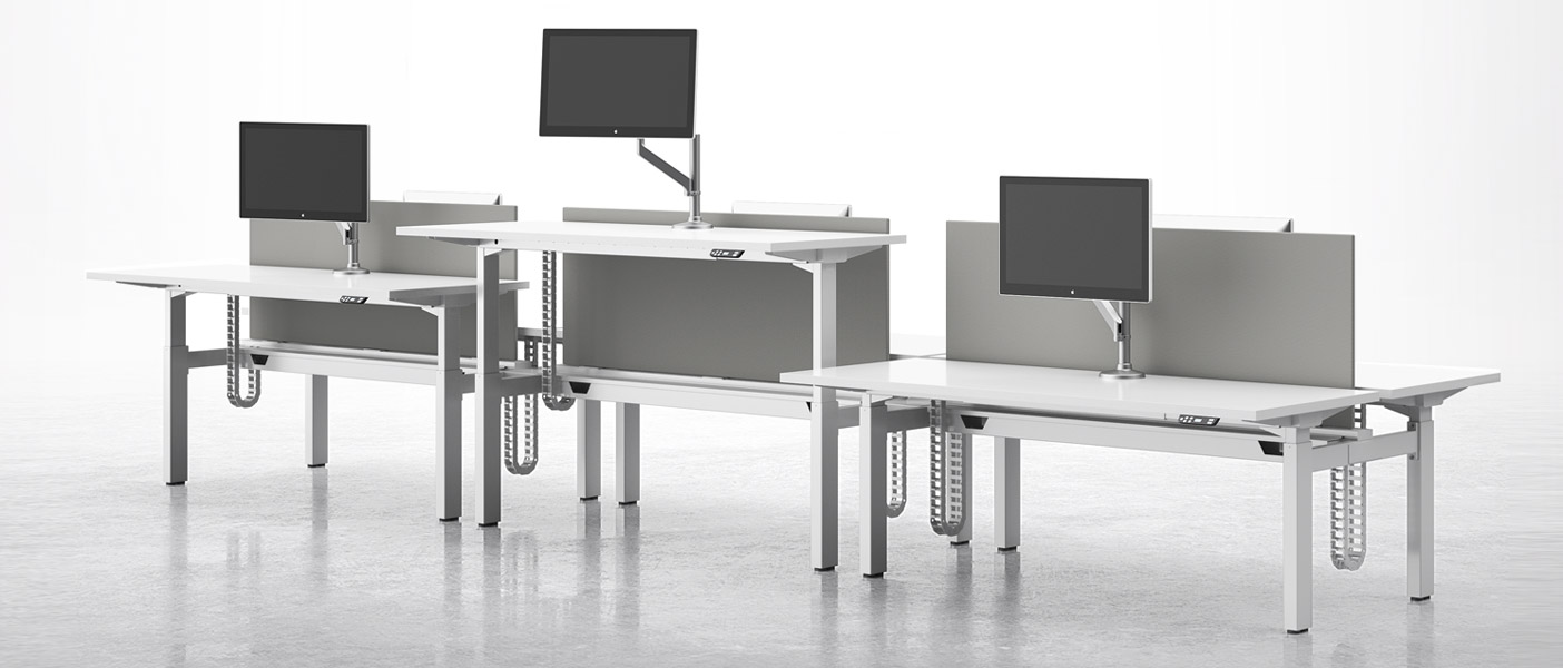 National Office Furniture Intros Adjustable Height Benching For