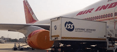 ISS catering services truck supplying an airplane