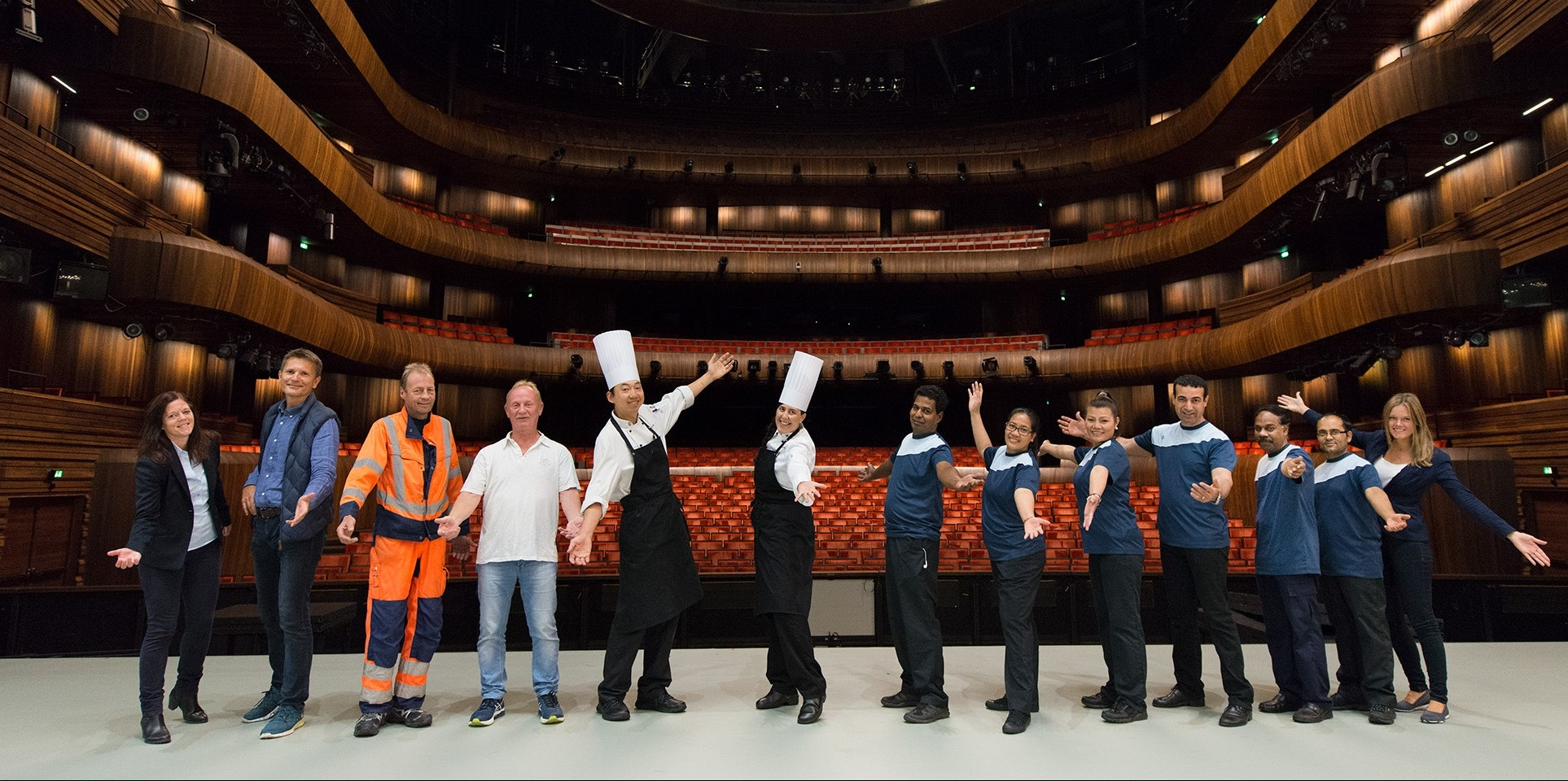 ISS employees in Norwegian Opera