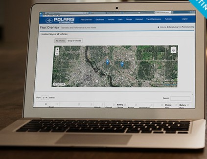 Polaris Fleet Solutions software screenshot