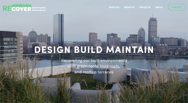 Recover Web site home page screenshot