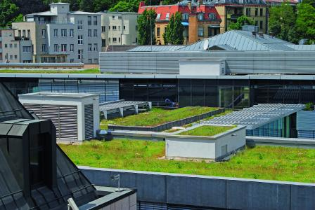 Urban Climate Roof in city