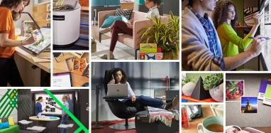 """""""Creative Spaces"""" technology-enabled spaces collage"""