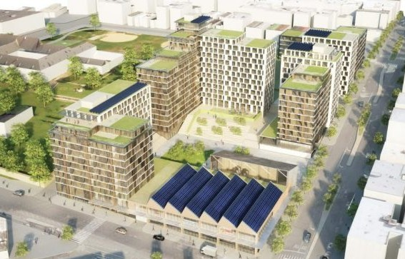 WXY/BLA conceptual rendering for mixed-use development