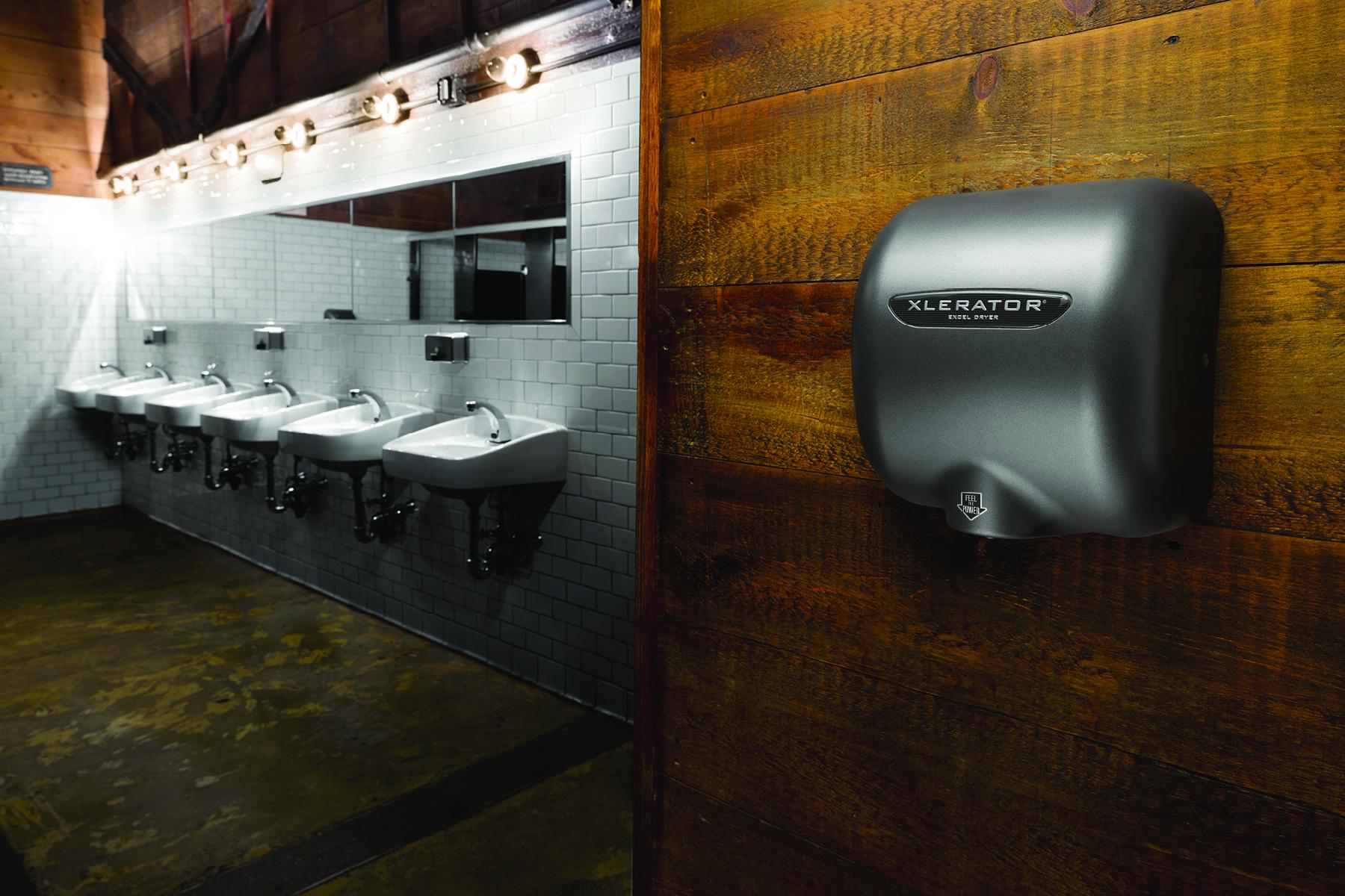 hand dryer in restroom