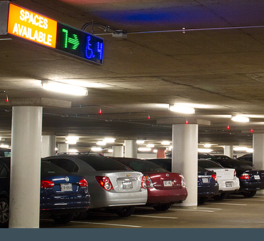 LED signs and lights for parking guidance