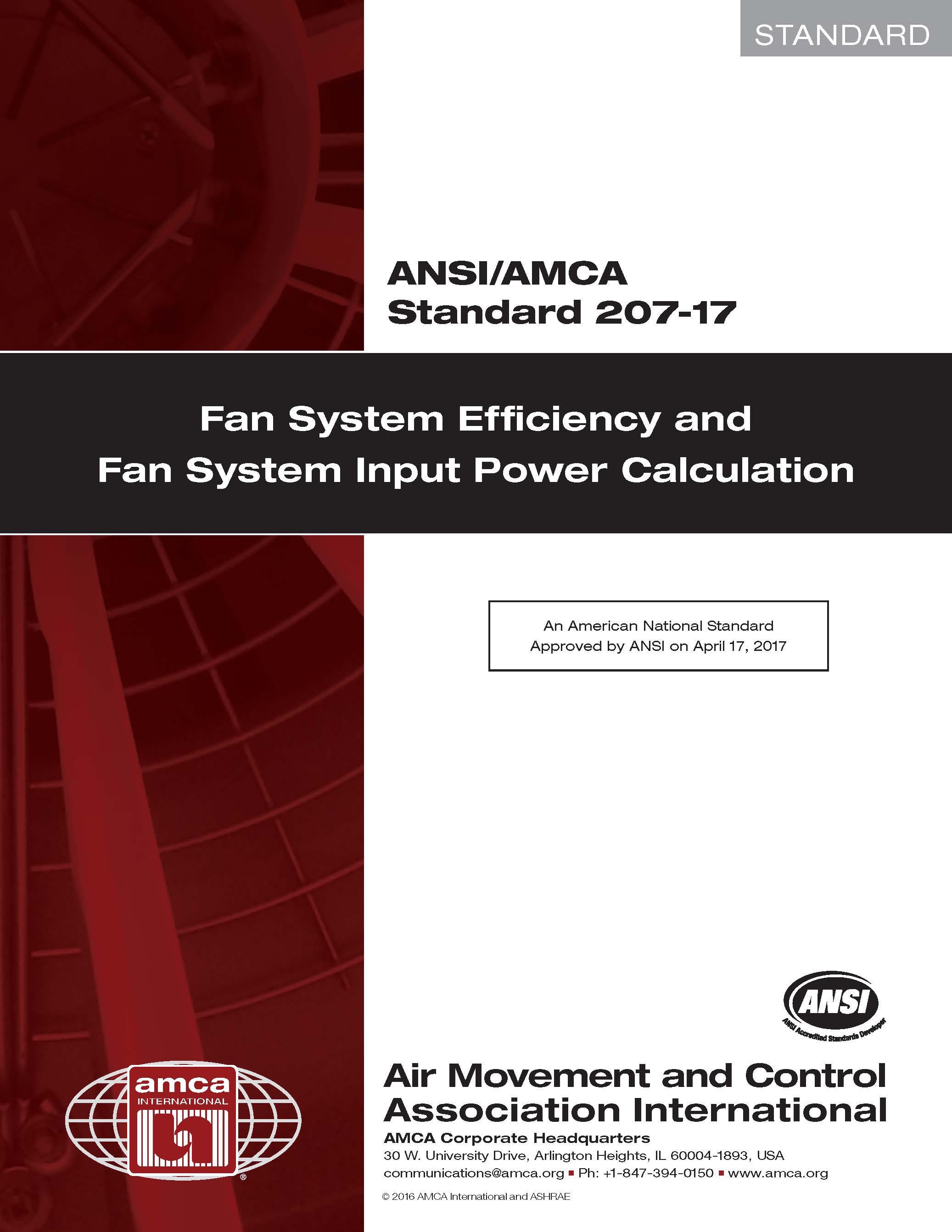 Fan system standard cover