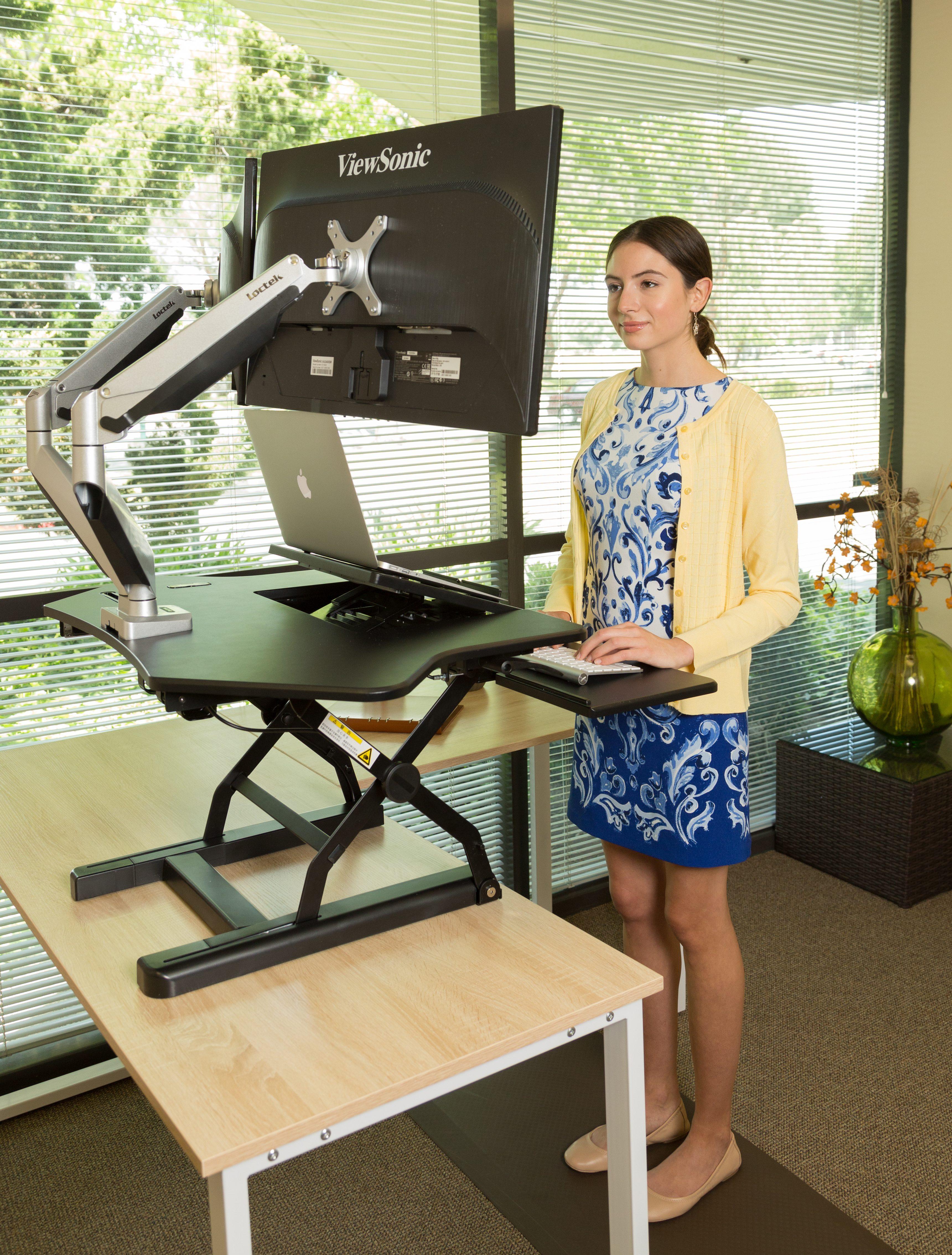 Loctek PC36 sit-stand desktop riser