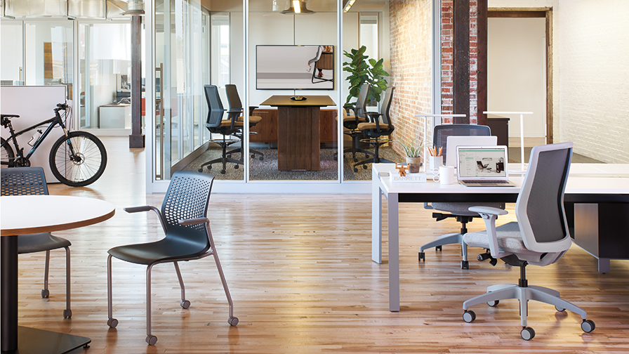 Various Lyric chair types in office setting