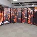 Custom-printed room divider