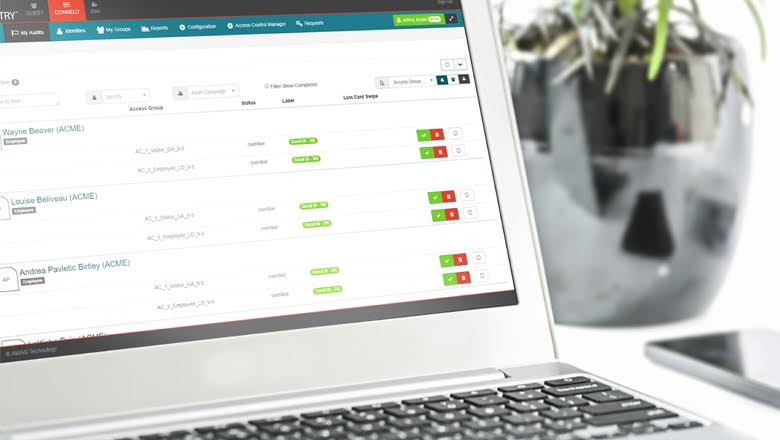Screenshot of Symmetry CONNECT identity management platform