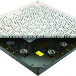 Variable-speed fans in unit under floor tile