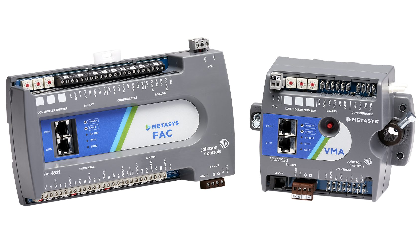 2 controllers for Metasys 9.0 building automation system