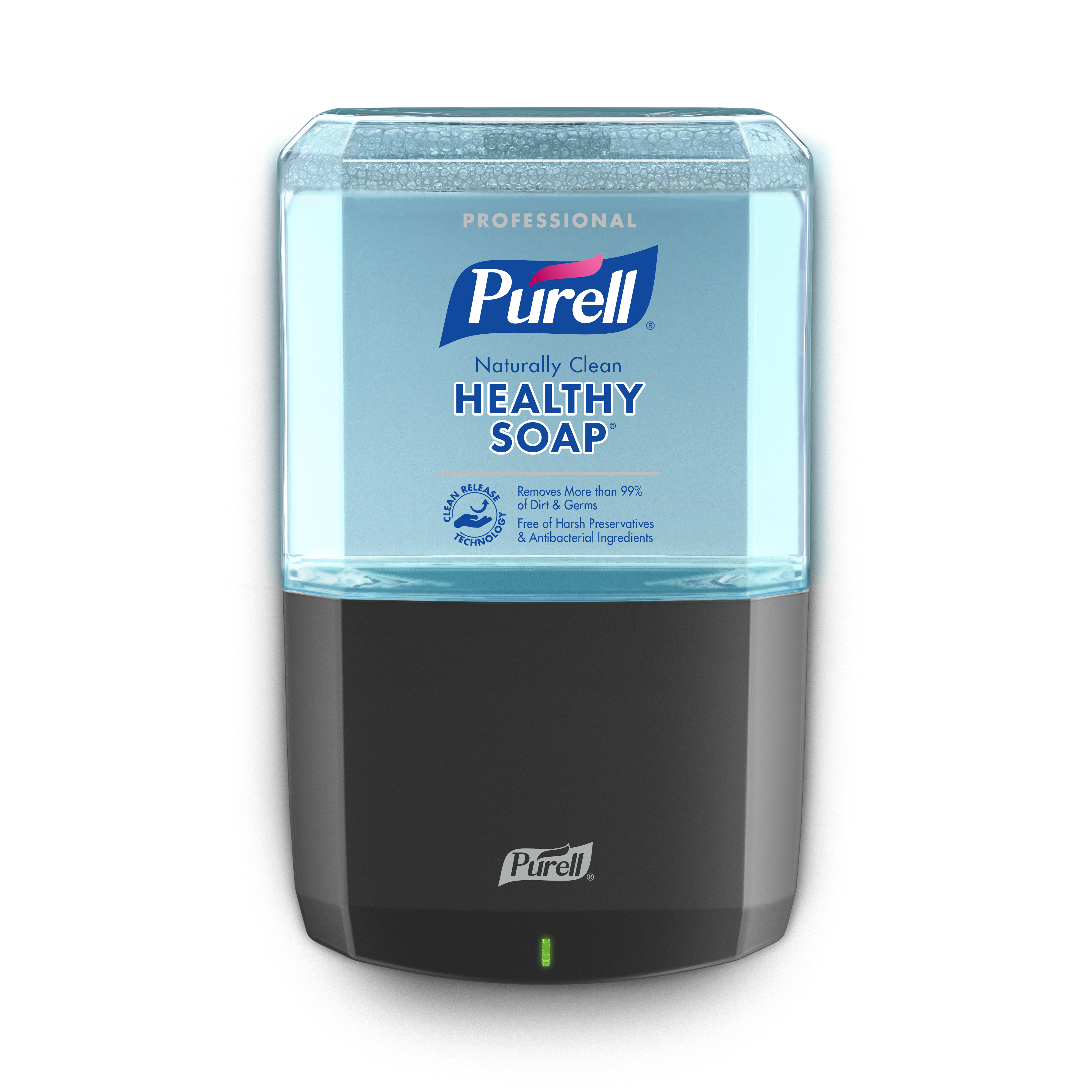 gojo intros purell touch free dispensers for soap hand sanitizer