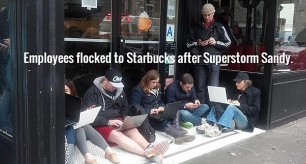 Figure 4: Employees flocked to Starbucks after Superstorm Sandy