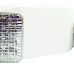 white emergency lighting with two square heads