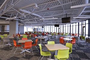 HON's Preside tables and Motivate chairs are comfortable and accommodating in common areas or breakrooms.