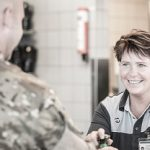 ISS employee serving a member of the Danish military
