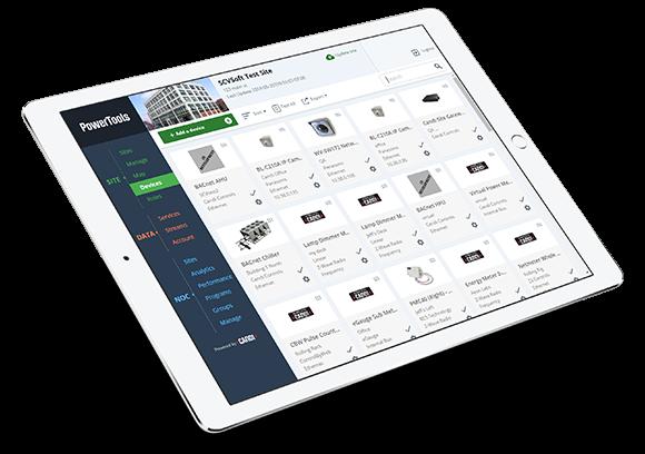 Screen shot of PowerTools on iPad