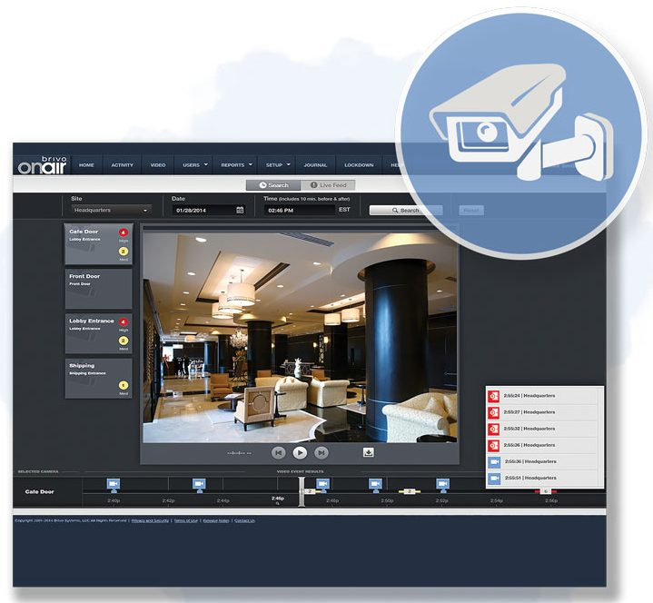 Screenshot of security video of lobby