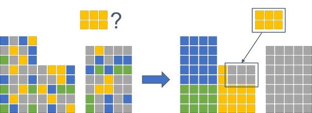 Figure 2: Space optimization example