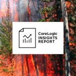 CoreLogic report cover, showing trees on fire