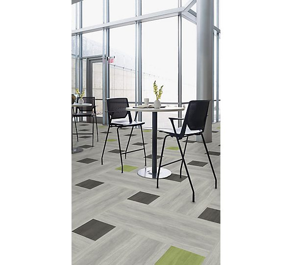 Patterned floor tiles with tables
