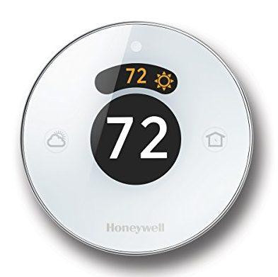 Round white thermostat