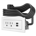 white power center with black cord