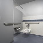 A clean-looking restroom