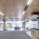 Lobby with Rockfon ceilings
