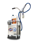 Disinfection machine with hose and nozzle