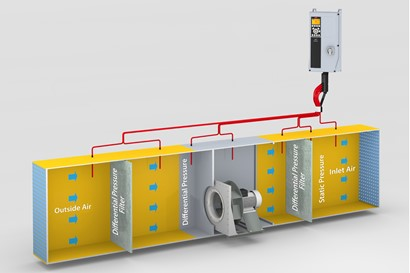 Pressure sensors for air filters