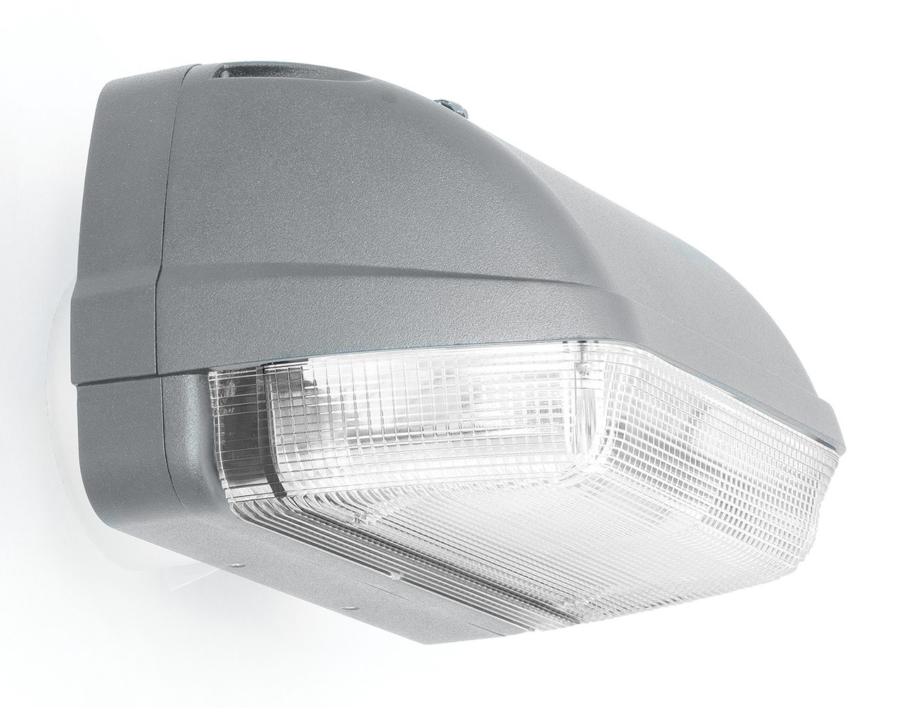 Silver wall-mount outdoor luminaire