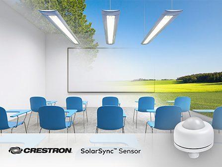 Illustration of room with daylight sensor mimicking natural lighting
