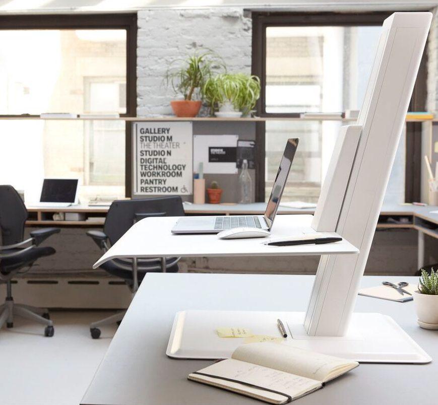 White desktop riser