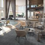 light-colored lounge furniture