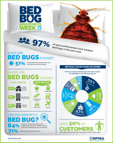 NPMA bed bugs infographic