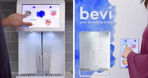 Bevi is connected to the internet. When flavors, CO2 and the filter need to be replaced, Bevi technicians are alerted.