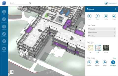 Building indoor mapping graphic