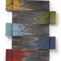 Various colored carpet planks