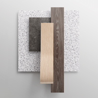 Square and plank samples of a resilient flooring collection