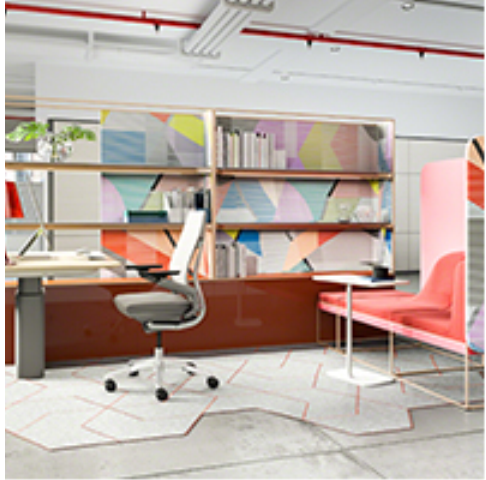 Steelcase Awardees Include Sit Stand Cantilever Worksurface